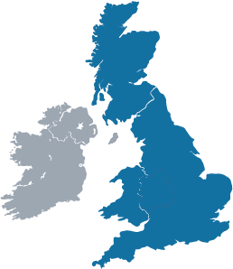 UK Map of area covered