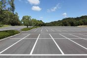 Outdoor car park markings