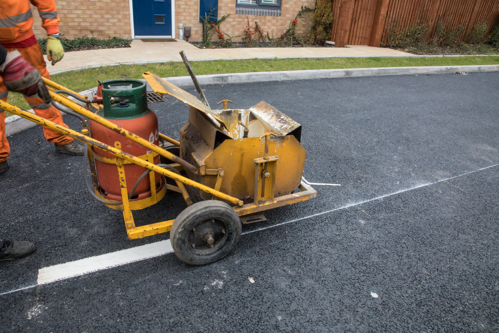 painting road lines - AAC